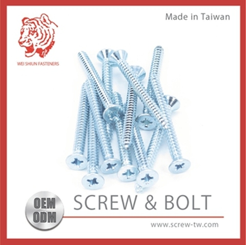 Taiwan Zinc Trivalent Chromate Plating Carbon Steel Sex Bolt