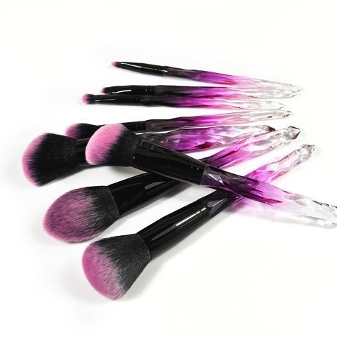 rainbow crystle handle synthetic  cosmetic makeup brush
