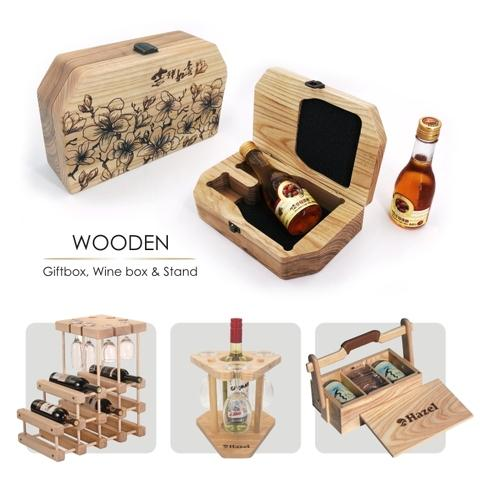 Wooden Giftbox, Wine box, Wine stand