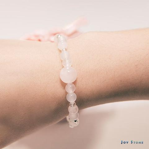 In Love Bracelet Rose Quartz Burnished Rose Bead