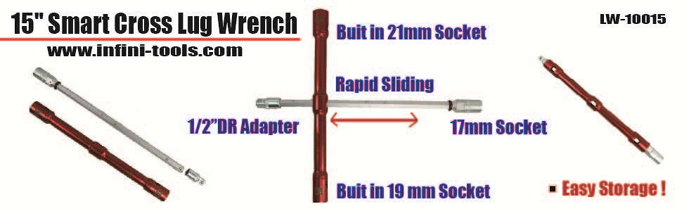 15-inch Smart Cross Lug Wrench