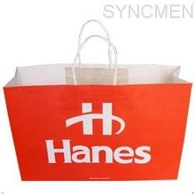 1 color 100%ink printing paper bag, paper bags, carrier bags, shopping bags, paper shopping bags, Bleach kraft paper bags,