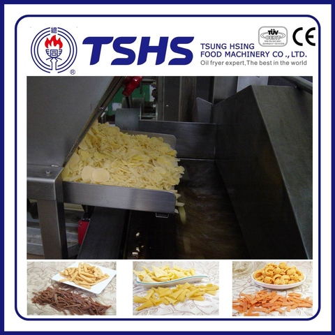 Professional Fried Pellet snacks Processing Line with CE approved