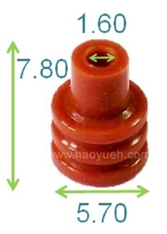 1 928 301 206 (HY1253) Wire Seals, Brick Red, BOSCH.