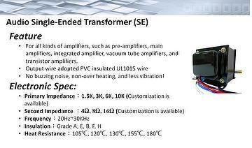Taiwan Audio Single-Ended Transformer | - JIAN MING
