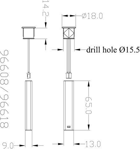 Door industry IR photoelectric switch sensor  model:96608