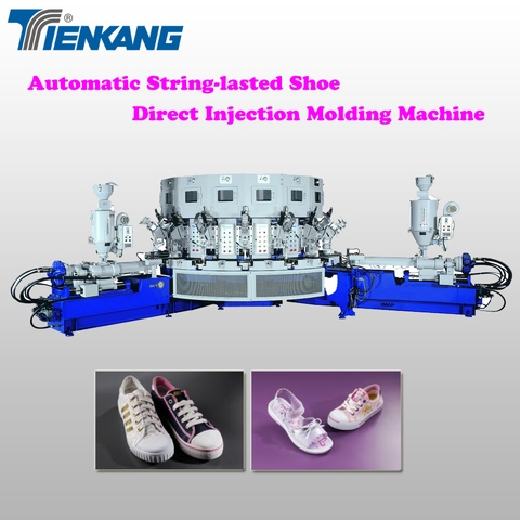 Automatic string-lasted shoe direct injection molding machine