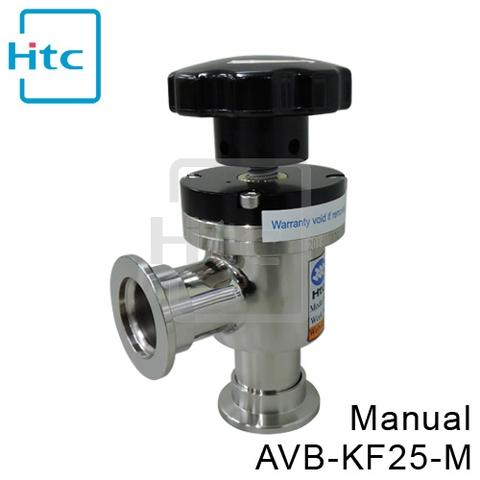 Vacuum Angle Valves - KF Flanges with Bellows - AVB-KF25-M