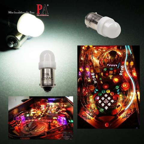 Pinball 2 LED Bulb, Pinball LED Light 2 SMD 2835 Ba9s