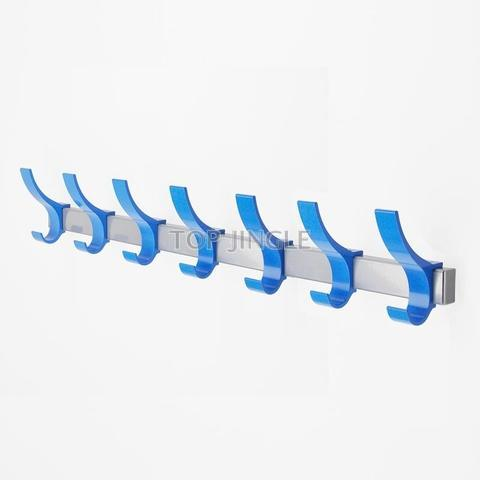 Aluminum Clothes & Hat Rack Wall Mounted Hooks