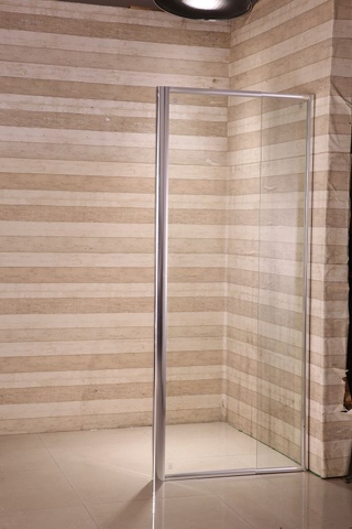 extendable bathroom & shower side panel made of tempered