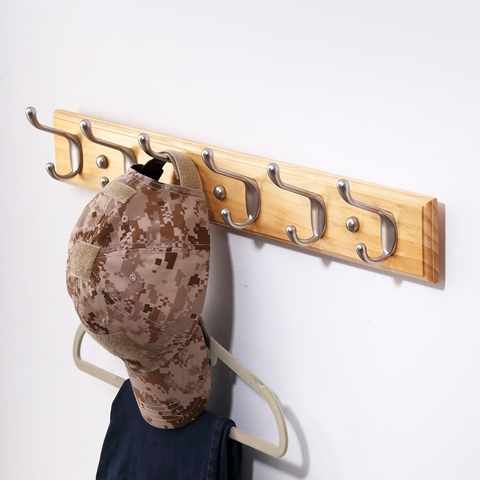 Top Quality Wall Wooden Coat Hook Rack for Bedrooms and Hallway