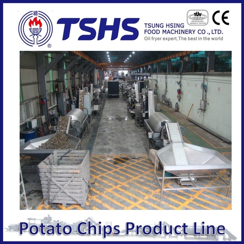 Made in Taiwan High Quality Brands  Potato Chips Factory Machines