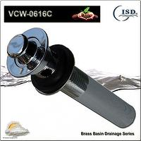 Lavatory Brass Lift and Trun Twist Strainer Drain Overflow Wastes