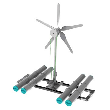 Fish Farm Wind Turbine Aerator