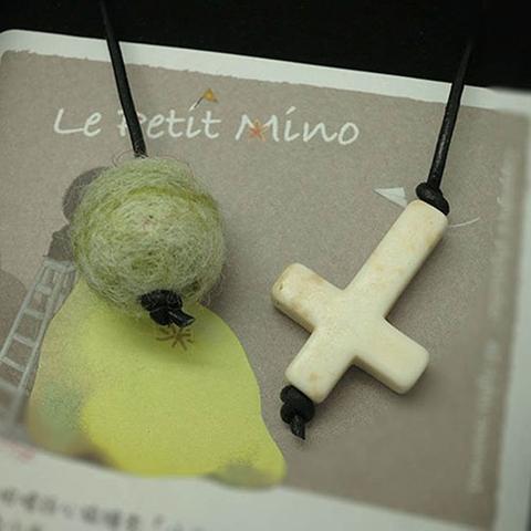 Green Diffuser Needlefelting Roundy White Cross Bookmark