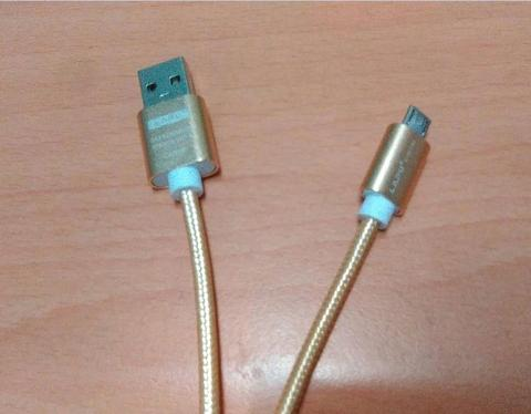 Aluminum alloy nylon braided data charging cable