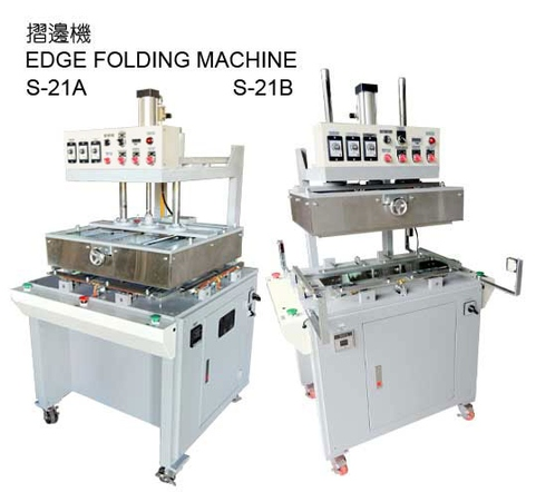 Blister edge folding machine