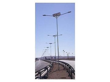 Solar powered outdoor street light
