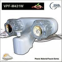 RV Dual Knob Tub/Shower Wall Faucet w/Diverter