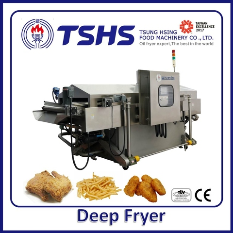 Industrial Continuous Stainless Steel Sweet Potato  Lpg Gas Deep Fryer