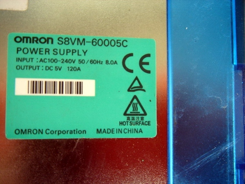 OMRON S8VM-60005C POWER SUPPLY