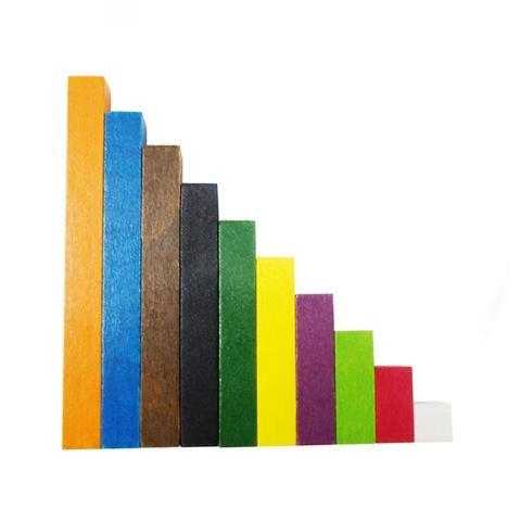 1-10cm Wooden Cuisenaire rods Bars Mixed C