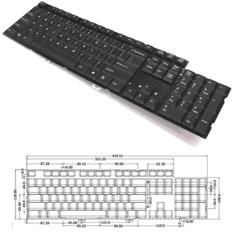 Digimore 2 Zone Desktop, Industrial Keyboard Module (KBM-2688)