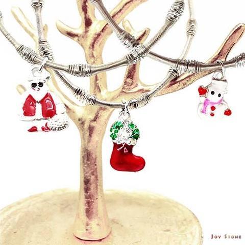 圣诞派对女王银珠手链 - 桂冠花环-圣诞树-拐杖-雪花-圣诞老人-雪靴-圣诞雪人-Paper Bubble Wrap
