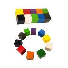 20mm Colorful Wood Cube Set