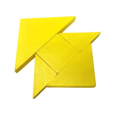 Yellow Wood Tangram Puzzle