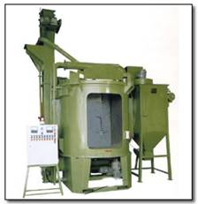 DOUBLE HANGER TYPE CONTINUOUS SHOT BLASTING MACHINE