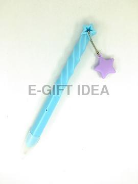Matte Macaron Spiral-shaped Pen (with a big star)