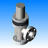 Vacuum Angle Valves with bellows - CF Rotatable Flanges pneumatically actuated