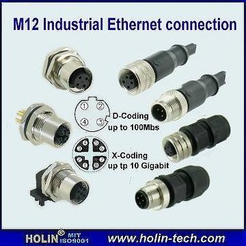 Taiwan M12 Style Connectors With A B C D P X Coding For Industrial
