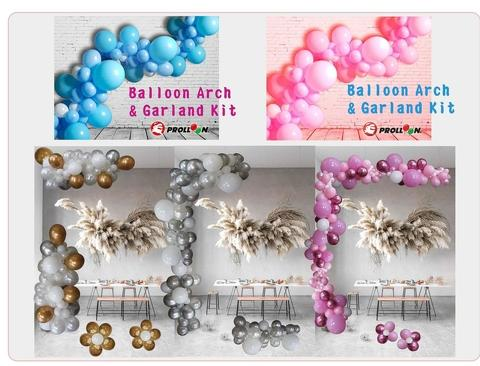 Boy and Girl balloon garland