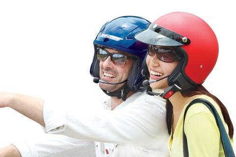 Headset Bluetooth Wireless untuk Helm Sepeda Moto  (Model: beLINK H02) (Perusahaan: OPUS High Technology) (Merek: beLINK)