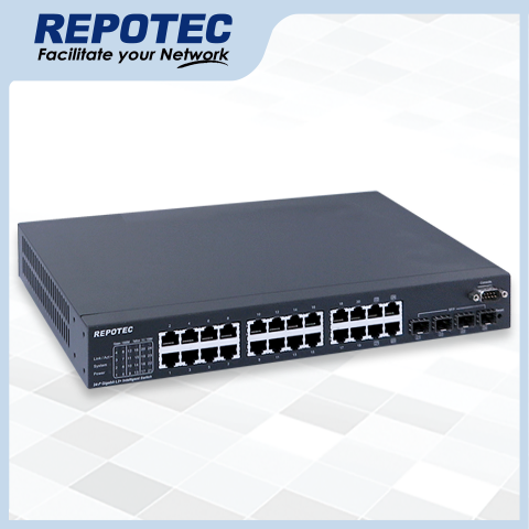 20-P 1000T + 4-1000T/SFP(100/1G) slot  L2+ Managed Switch