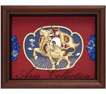 Gold leaf painting, Bull