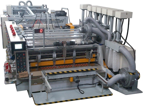 in line flexo folder gluer counter ejector