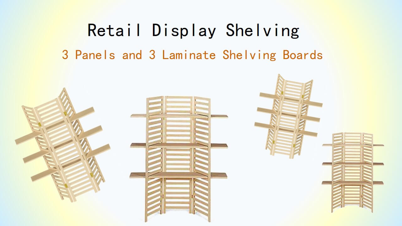 Taiwan Retail Display Shelving, 3 Panels and 3 Laminate Shelving ...