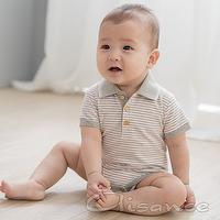 Baby stripe bodysuit, Baby flat knit collar bodysuit, Baby knitted one-piece, Jumper suit, Baby clothes (dun & Bradstreet approved)