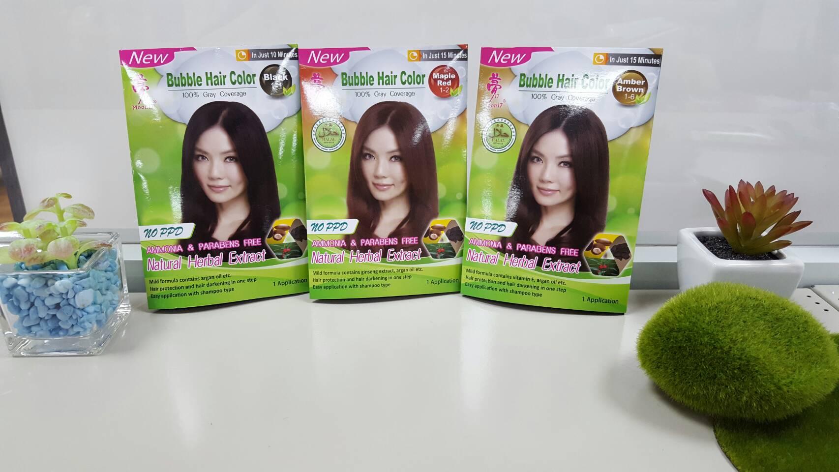 Taiwan No Ppd 3d Bubble Hair Color 12pcs Pack Dong An Bio Tech