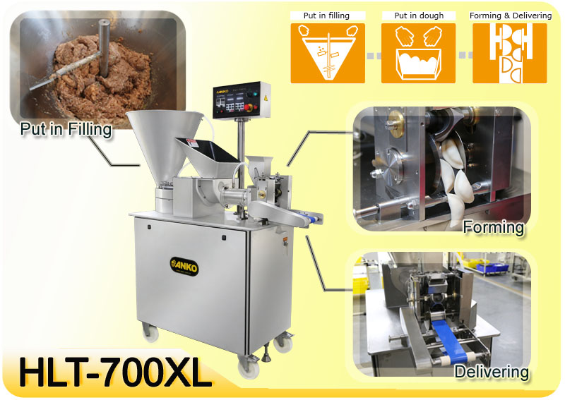 Anko automatic fast food calzone machine