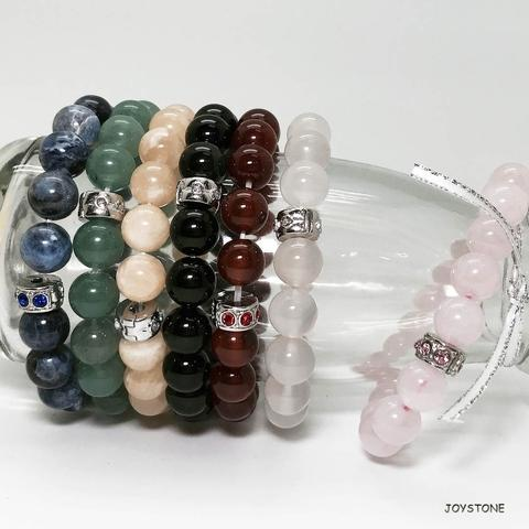 10mm Stretch Bracelets Beaded Natural Stone Options