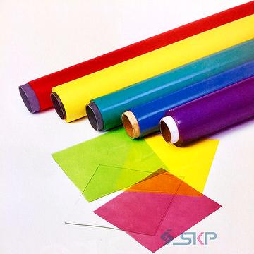 Taiwan Colored Plastic Film Pvc Translucent Yellow