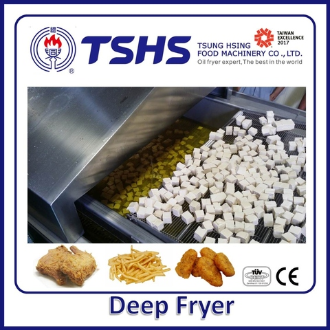Industrial Continuous Stainless Steel Snack Lpg Gas Fryer Machine