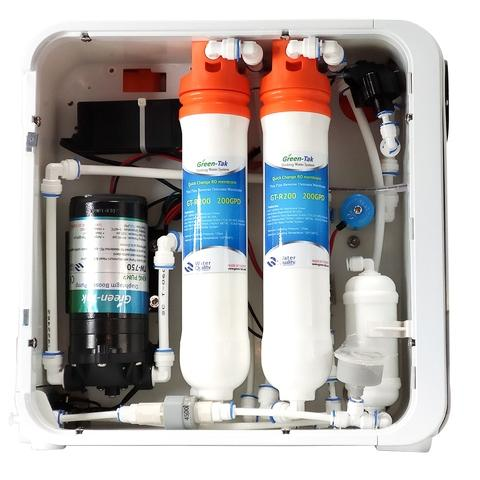 Compact reverse osmosis system prevent from second pollutio