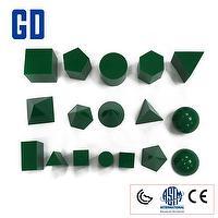 3D Geo Solids Set-green