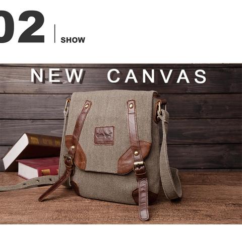 70d1b04a1b8f Taiwan Men's Canvas Bags Vintage Male Leather Handbag Men Shoulder ...